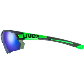 UVEX Sportstyle 224 Occhiali, black mat green/green